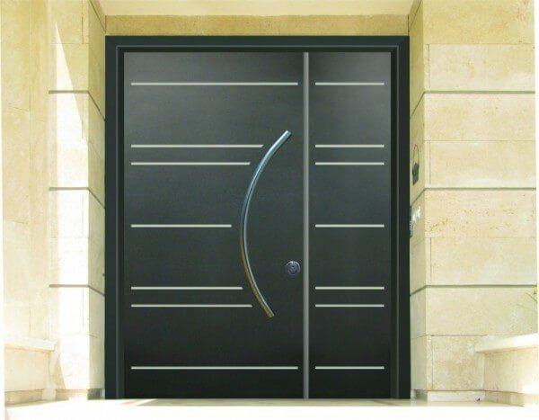דלת כניסה כנף וחצי מעוצבת